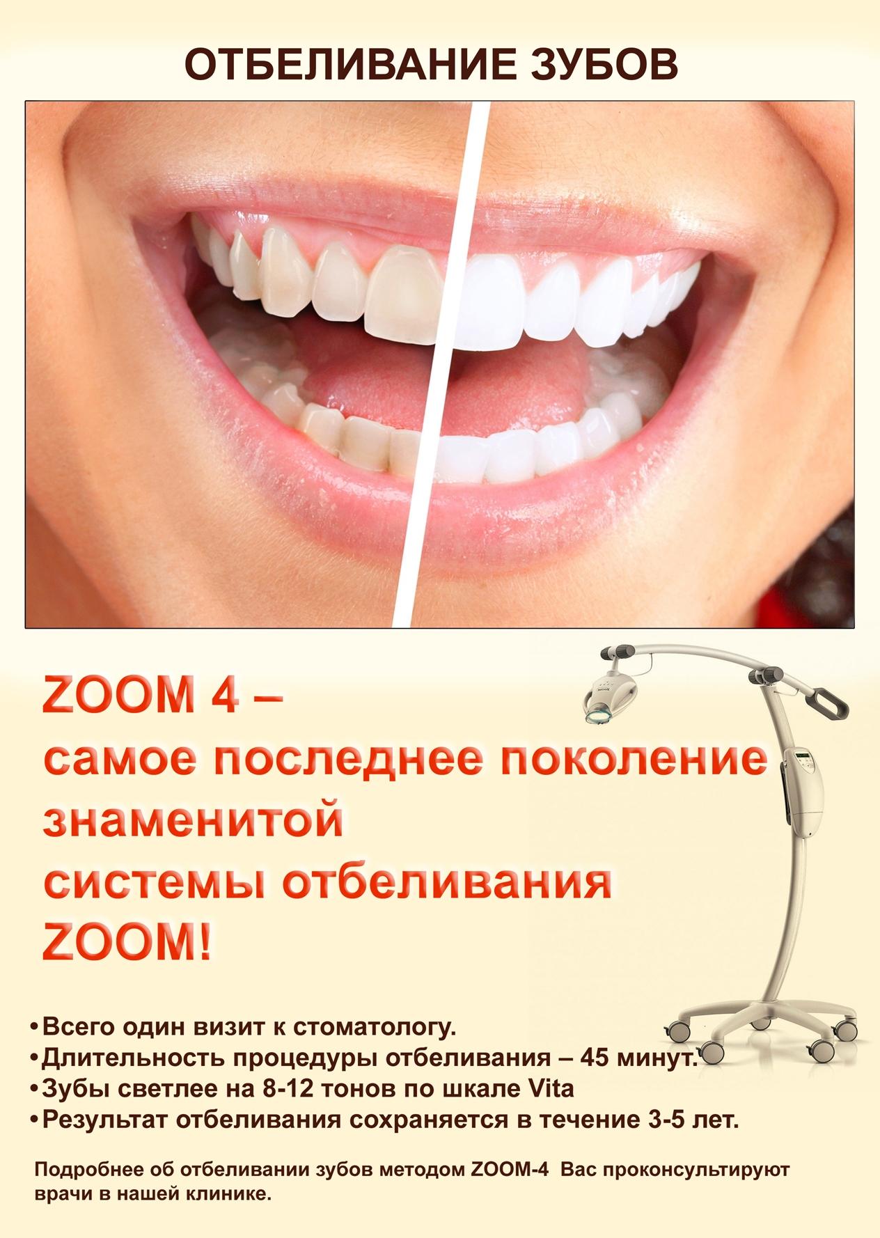 Отбеливание зубов Zoom 4: что это за метод и зачем его